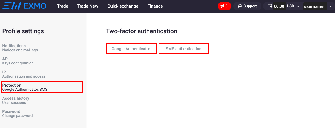 How to set up two-factor authentication at EXMO account? – EXMO